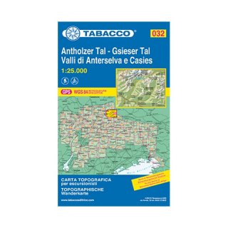 032 Antholzer Tal/Gsieser Tal/Valli di Anterselva e Casies 1:25.000