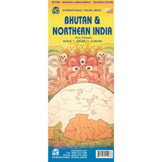 Bhutan & Northern India 1:345.000/2.100.000
