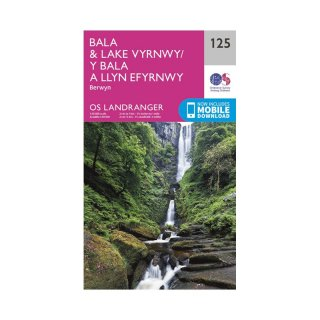 No. 125 - Bala & Lake Vyrnwy, Berwyn 1:50.000