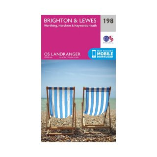 No. 198 - Brighton & Lewes, Haywards Heath 1:50.000