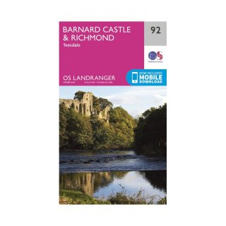 No.  92 - Barnard Castle & Richmond 1:50.000