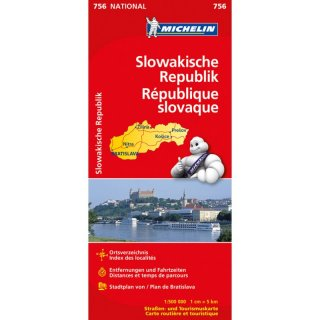 Slowakische Republik 1:500.000