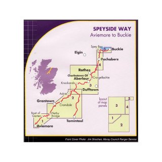 Speyside Way - Aviemore to Buckie 1:40.000