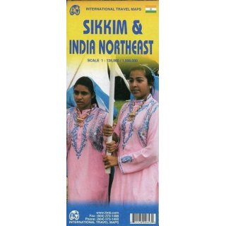Sikkim & India Northeast 1:135.000