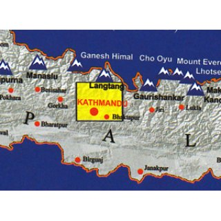 Around Kathmandu Valley 1:60.000