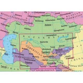 Central Asia 1:1.750.000 - LandkartenSchropp.de Online Shop