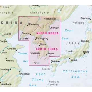 Korea North and South 1:1.500.000