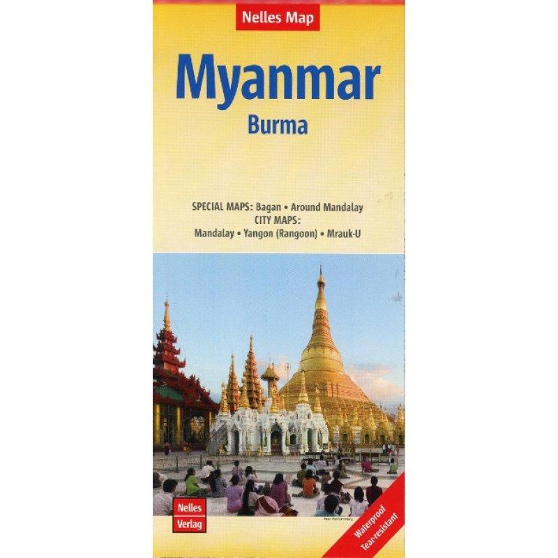 Nelles Map Myanmar 1:1.500.000 - LandkartenSchropp.de