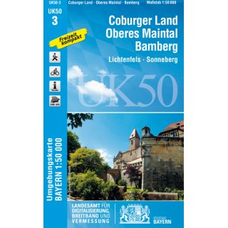 UK 50- 3   Coburger Land - Oberes Maintal 1:50.000