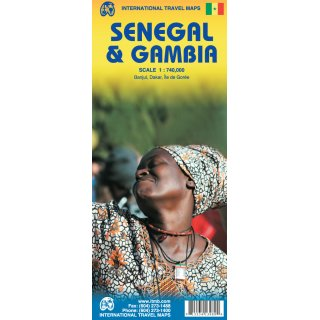 Senegal (Including Gambia) 1:800.000