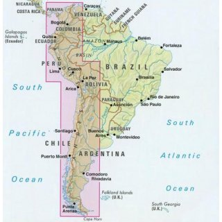 South America / The Andes  1:4.500.000
