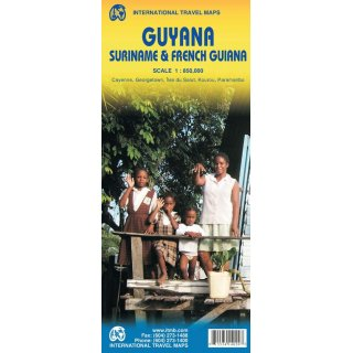Guyana Suriname French Guiana 1:850.000