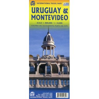 Uruguay and Montevideo 1:800.000/1:10.000