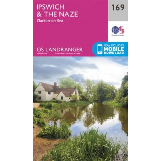 No. 169 - Ipswich & The Naze, Clacton-on-Sea 1:50.000