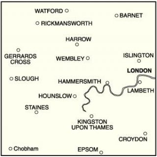 No. 176 - West London, Rickmansworth & Staines 1:50.000