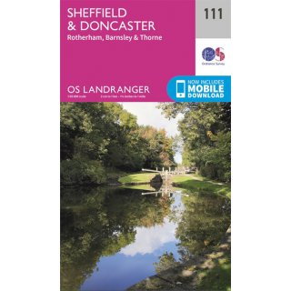 No. 111 - Sheffield & Doncaster 1:50.000