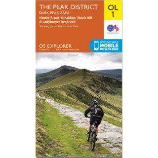 No. OL 1 - The Peak Distric - Dark Peak area t 1:25.000