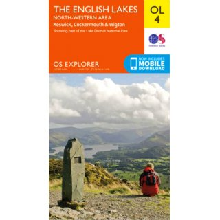 No. OL 4 - The English Lakes - North-western area 1:25.000