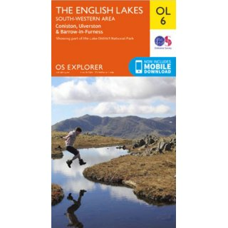 No. OL 6 - The English Lakes - South-western area 1:25.000