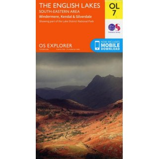 No. OL 7 - The English Lakes - South-eastern area 1:25.000