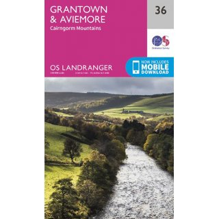 No.  36 - Grantown & Aviemore  1:50.000
