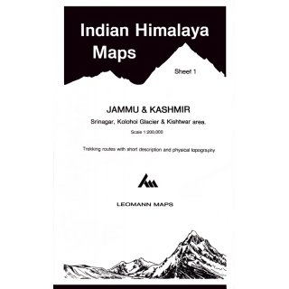 Indian Himalaya Maps - Sheet 1 - 1:200.000