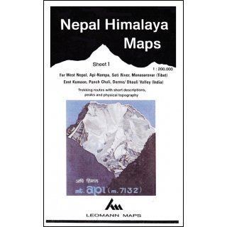 Nepal Himalaya Maps - Sheet 1 - 1:200.000