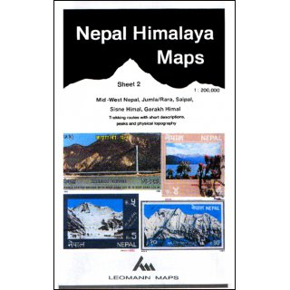 Nepal Himalaya Maps - Sheet 2 - 1:200.000