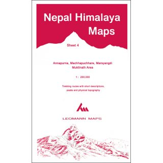 Nepal Himalaya Maps - Sheet 4 - 1:200.000