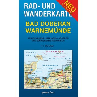 Bad Doberan - Warnemünde 1:30.000