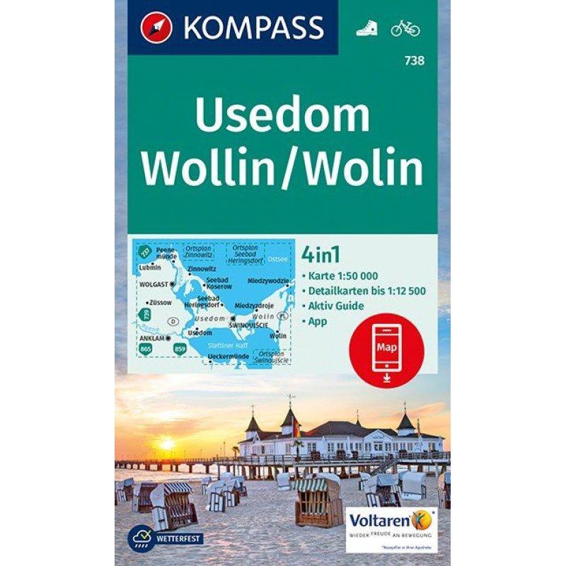 Insel Usedom Karte.Wk 738 Insel Usedom Insel Wolin 1 50 000