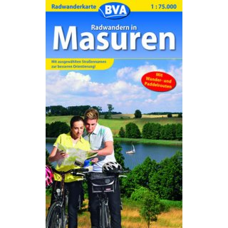 Radwandern in Masuren 1:75.000