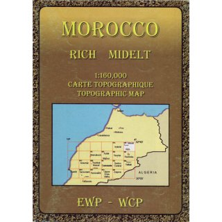 Morocco (HB): Rich and Midelt  1:160.000
