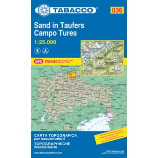 036 Sand in Taufers/Campo Tures 1:25.000