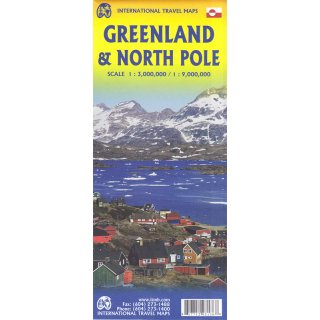 Greenland & North Pole 1:3.000.000/1:9.000.000