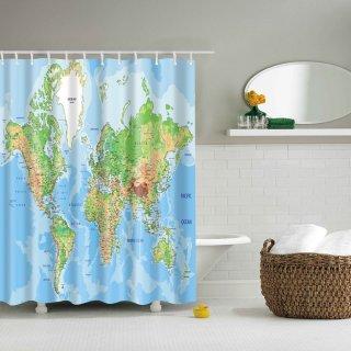 Duschvorhang World Map Physikalisch Landkartenschropp De