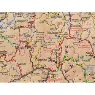 Peloponnes Karte Regionen.Straßenkarte Peloponnes Griechenland Terrain Editions