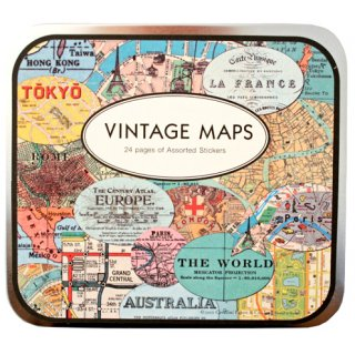 Vintage Maps Stickers