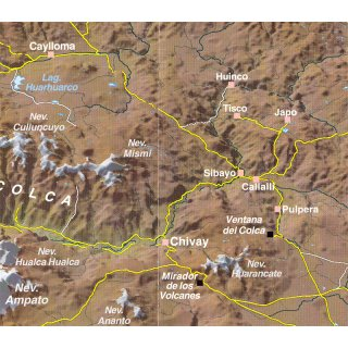 Colca and Cotahuasi Canyons 1 : 125.000