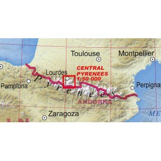 Central Pyrenees 1:50.000