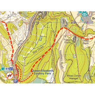 South Downs Way - Winchester to Eastbourne 1:40.000