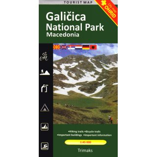 Galicica Nationalpark 1:45.000