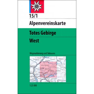 15/1 Totes Gebirge - West 1:25.000