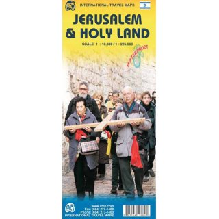Holy Land & Jerusalem 1:225.000 / 1:10.000