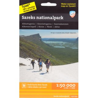 Sarek-Nationalpark 1:50.000