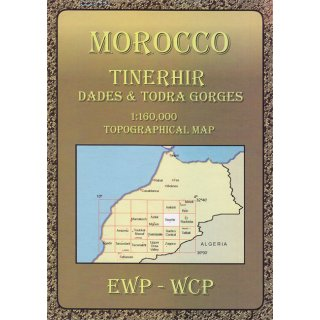 Morocco (HE): Tinerhir, Dades & Todra Gorges   1:160.000