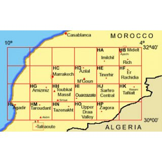 Morocco (HF): Er Rachidia and the Lower Ziz Valley 1:160.000
