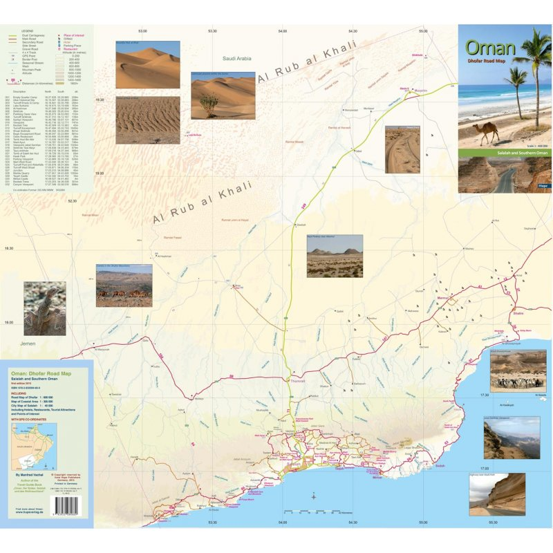 Oman Dhofar Road Map 1: 600 000 - LandkartenSchropp.de Online Shop