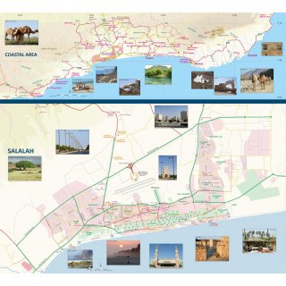 Oman Dhofar Road Map 1:600.000
