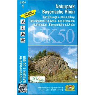 UK 50- 1  Nationalpark Bayerische Rhön 1:50.000